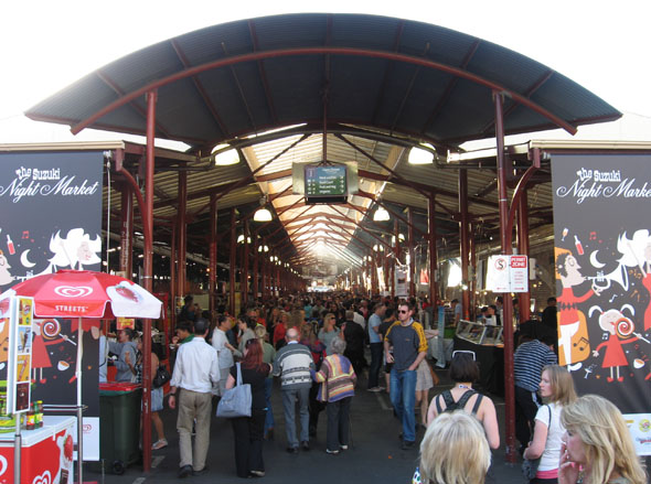 Shopping At The Landmark Market