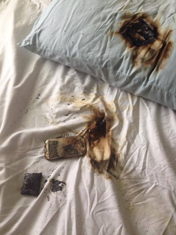 Smart Phones Have Been Burnt Under The Pillow