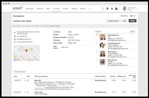 Scoro customer database software