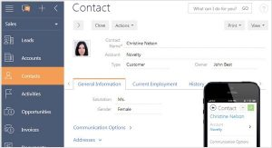 bpmonline customer database