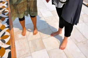 Enter Temple Barefoot